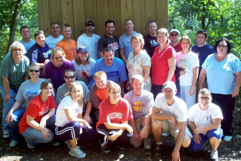 LDA Class of 2009-10 during the low ropes course