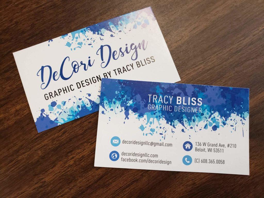 Decori Design business cards
